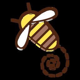 Biene niedliches Insekt