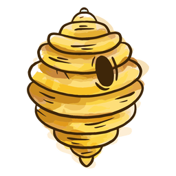Bienenstock Aquarell