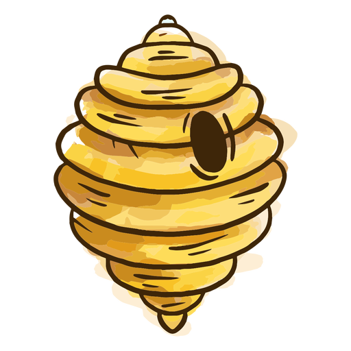 Bee hive watercolor
