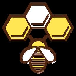 Elemento de casa de abeja simple