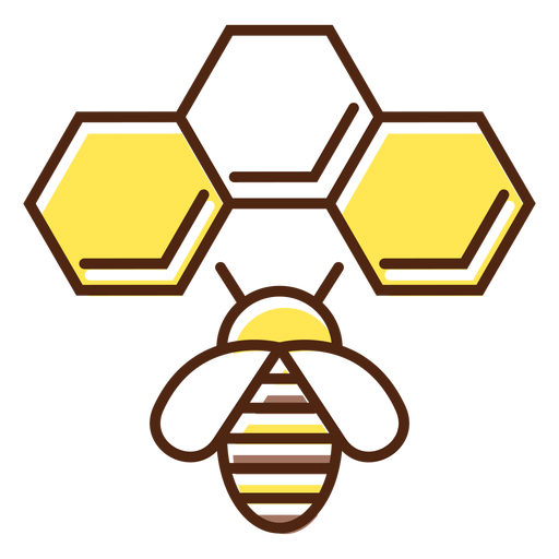 Bee house element simple Transparent PNG