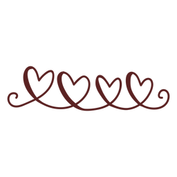 Corazones lindos trazo dibujado a mano