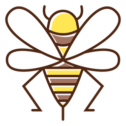 Lindo elemento de abeja de miel