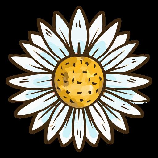 Cute simple flower Transparent PNG