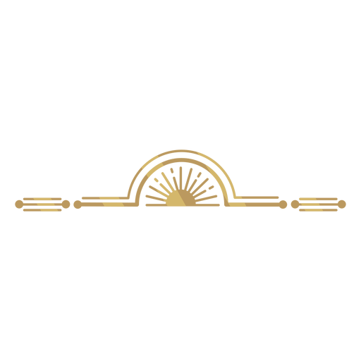 Gold art deco Transparent PNG