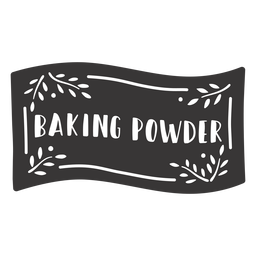 Hand drawn baking powder label