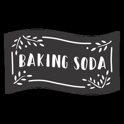 Hand drawn baking soda label