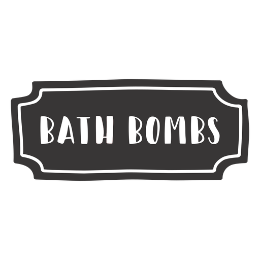 Hand drawn bath bombs label Transparent PNG