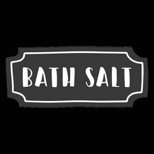 Etiqueta de sal de baño dibujada a mano