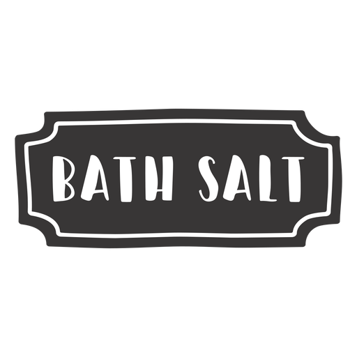 Hand drawn bath salt label Transparent PNG