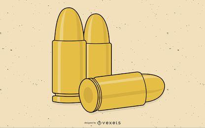 Ícone com três balas