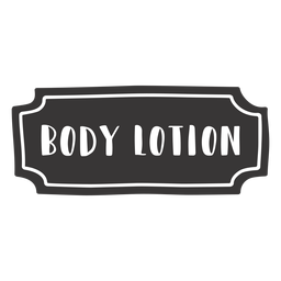Hand drawn body lotion label
