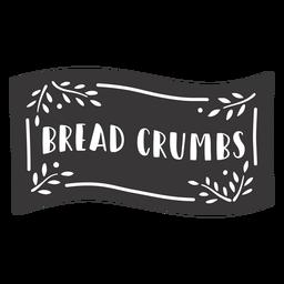 Etiqueta de pan rallado dibujada a mano
