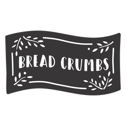 Hand drawn bread crumbs label