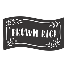 Hand drawn brown rice label