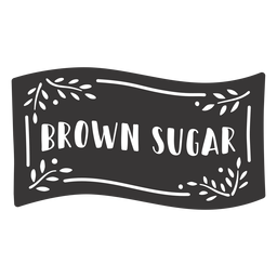 Hand drawn brown sugar label