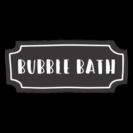 Etiqueta de baño de burbujas dibujada a mano