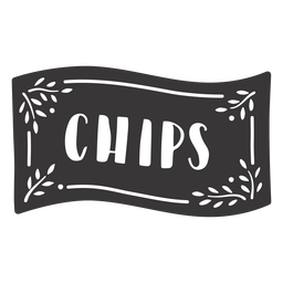 Hand drawn chips label