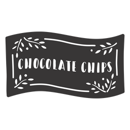 Hand drawn chocolate chips label