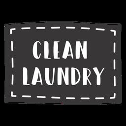 Letras de roupas limpas desenhadas à mão