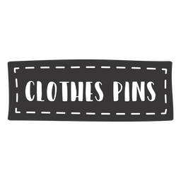 Hand drawn clothes pins lettering