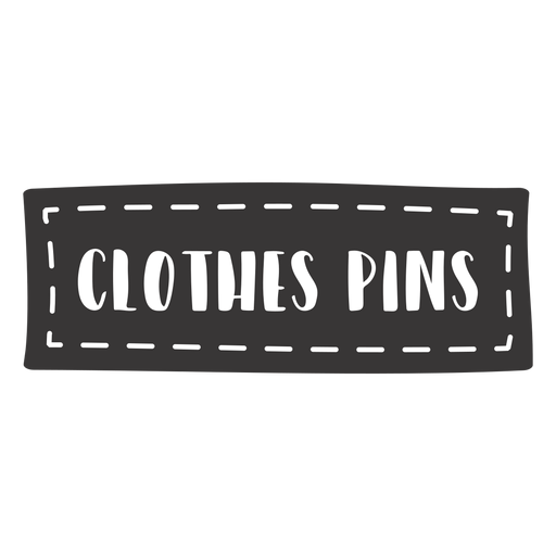 Hand drawn clothes pins lettering Transparent PNG