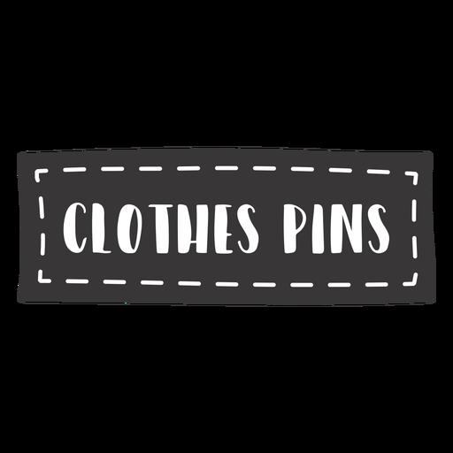 Letras de alfileres de ropa dibujados a mano
