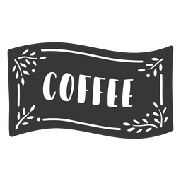 Hand drawn coffee label