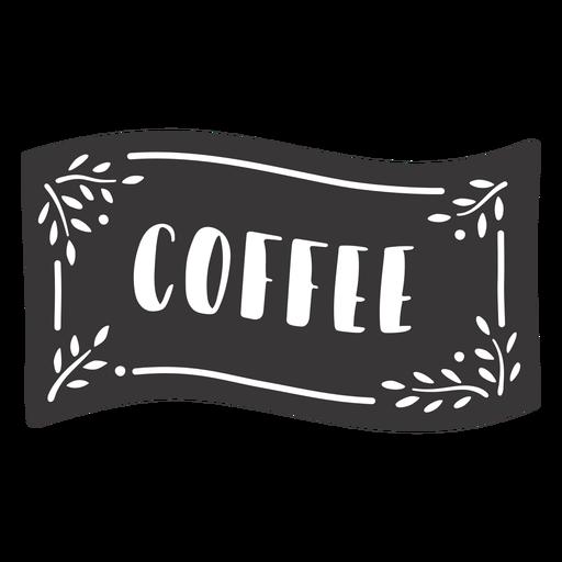 Hand drawn coffee label