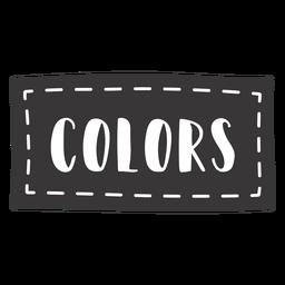 Letras de colores dibujados a mano