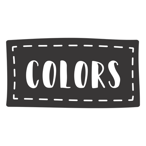 Hand drawn colors lettering