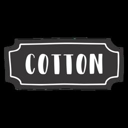 Etiqueta de algodón dibujada a mano