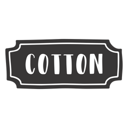 Hand drawn cotton label