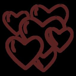 Coração fofo desenhado à mão
