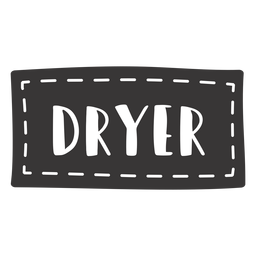 Hand drawn dryer lettering