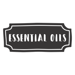 Hand drawn essential oils label
