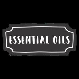 Handgezeichnetes Etikett für ätherische Öle