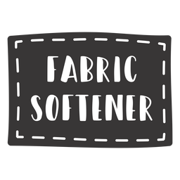 Hand drawn fabric softener lettering
