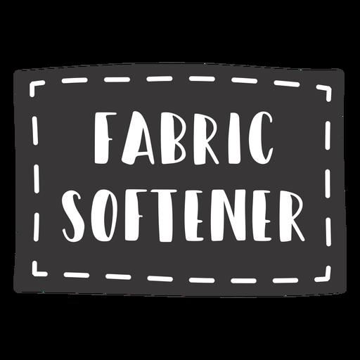 Hand drawn fabric softener lettering