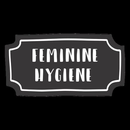 Hand drawn feminine hygiene label