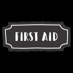 Handgezeichnetes Erste-Hilfe-Etikett