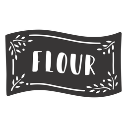 Hand drawn flour label
