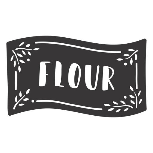 Etiqueta de harina dibujada a mano