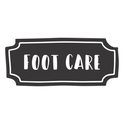 Hand drawn foot care label