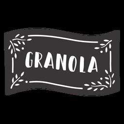 Etiqueta de granola dibujada a mano