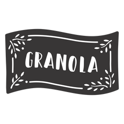 Hand drawn granola label