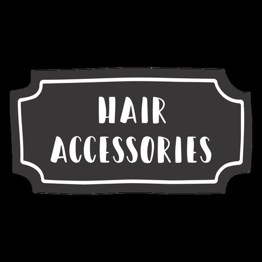 Hand drawn hair accessories label