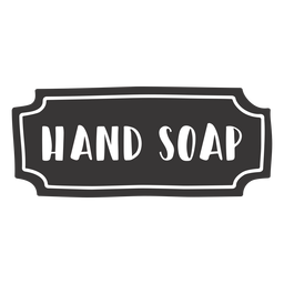 Hand drawn hand soap label