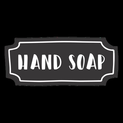 Etiqueta de sabonete de mão desenhada