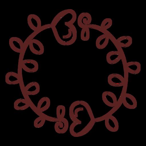 Corazones dibujados a mano adorno trazo simple
